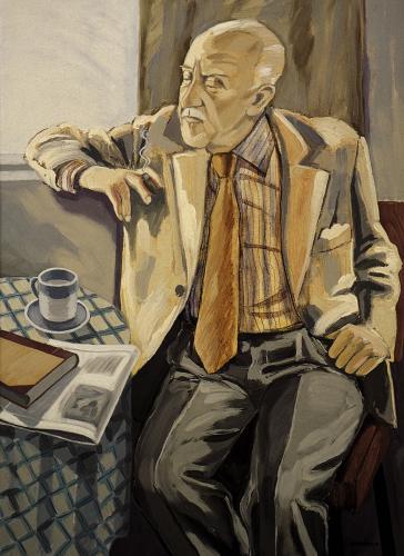 Halldór Laxness ritratto da Einar Hákonarson (1984)